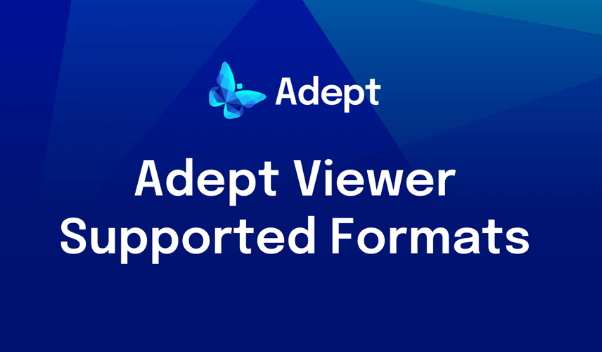 Adept Viewer Supported Formats