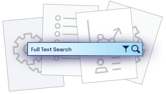 Full Text Search bar overlapping documents
